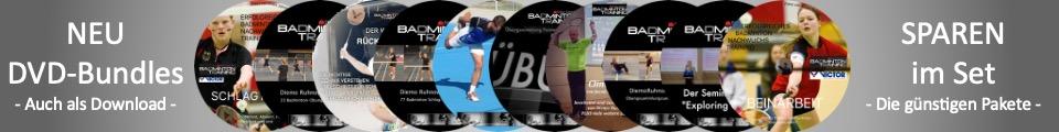 Badminton DVDs Lauftechnik Schlagtechnik Lernen