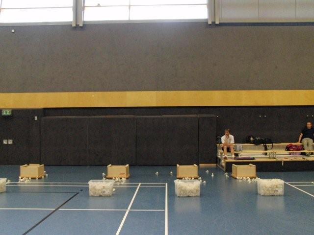 Koordinatiosparcours klein Teil 2 Badminon Training